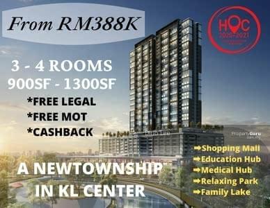 For Sale - setapak, new township, lake cndo, 0% downpayment, 5min to duke 13min to klcc,  cash back 15k