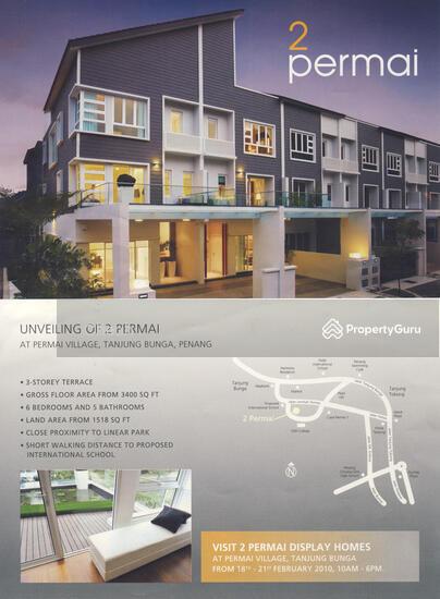 3 storey terrace house in permai 2 tanjung bungah corner for 3 storey terrace house